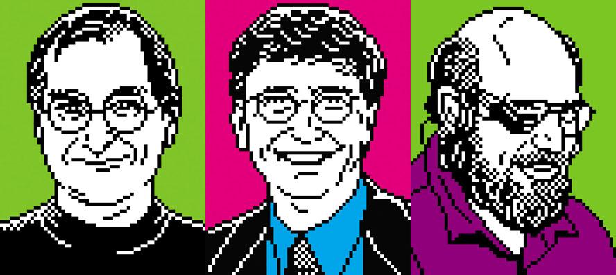 'Pixel faces' by TGB Design